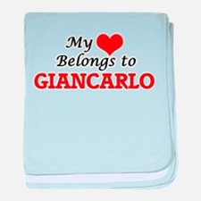 My heart belongs to Giancarlo baby blanket