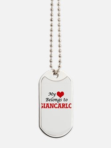 My heart belongs to Giancarlo Dog Tags