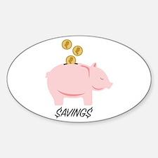 Piggy Bank Savings Decal