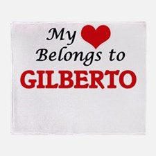 My heart belongs to Gilberto Throw Blanket