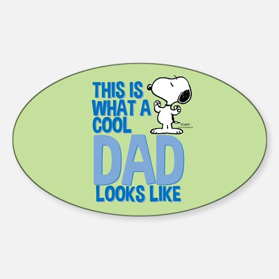 Snoopy - This Is What A Cool Dad Looks Lik Decal