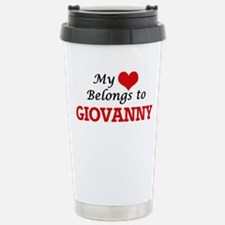 My heart belongs to Gio Stainless Steel Travel Mug