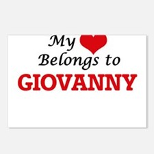 My heart belongs to Giova Postcards (Package of 8)