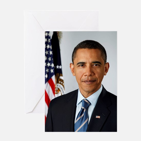 President Barack Obama Greeting Cards