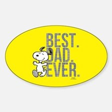 Snoopy - Best Dad Ever Full Bleed Bumper Stickers
