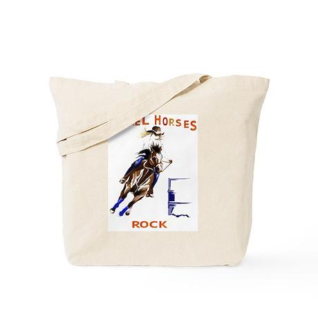 Barrel Horses Rock Tote Bag