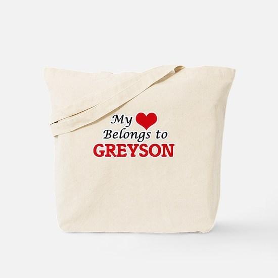 My heart belongs to Greyson Tote Bag