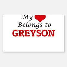My heart belongs to Greyson Decal