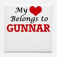 My heart belongs to Gunnar Tile Coaster