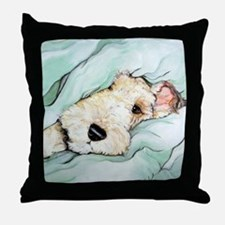 Napping Wire Fox Terrier Throw Pillow