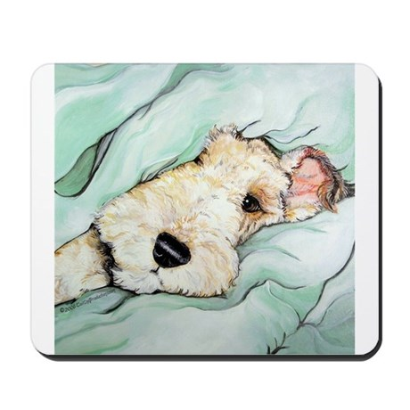 Napping Wire Fox Terrier Mousepad