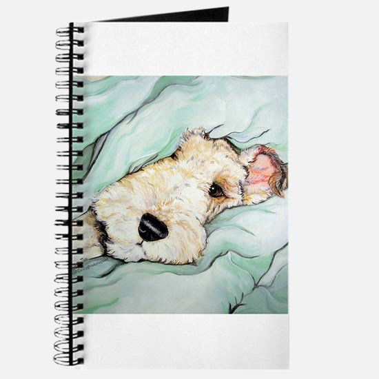 Napping Wire Fox Terrier Journal