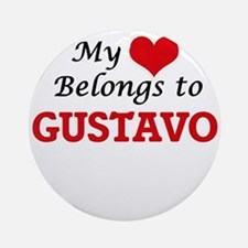 My heart belongs to Gustavo Round Ornament