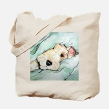 Napping Wire Fox Terrier Tote Bag