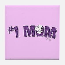 Snoopy - #1 Mom Full Bleed Tile Coaster