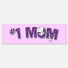 Snoopy - #1 Mom Full Bleed Bumper Bumper Bumper Sticker