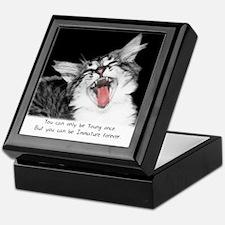 Wild Cat-And-Quote Keepsake Box