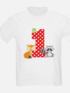 1st Birthday Woodland T-Shirt