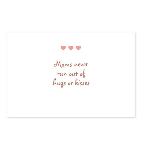 Moms never run out of hugs or Postcards (Package o