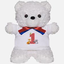 1st Birthday Woodland Teddy Bear