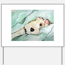 Napping Wire Fox Terrier Yard Sign