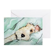 Napping Wire Fox Terrier Greeting Cards (Pk of 20)
