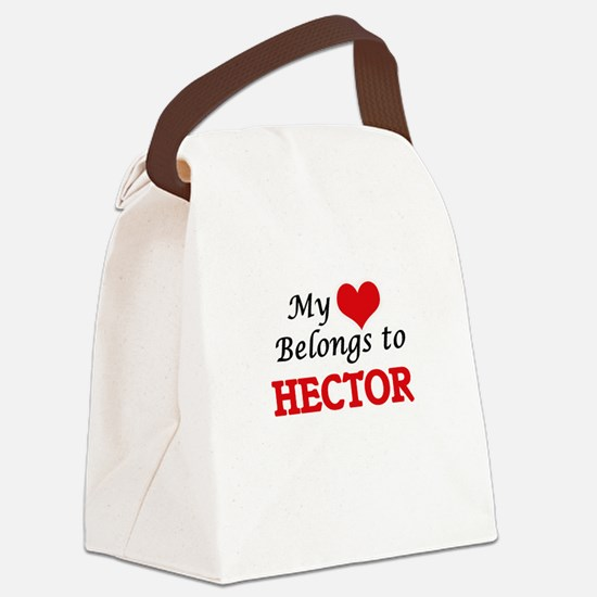 My heart belongs to Hector Canvas Lunch Bag