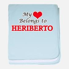 My heart belongs to Heriberto baby blanket
