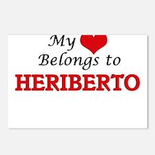 My heart belongs to Herib Postcards (Package of 8)