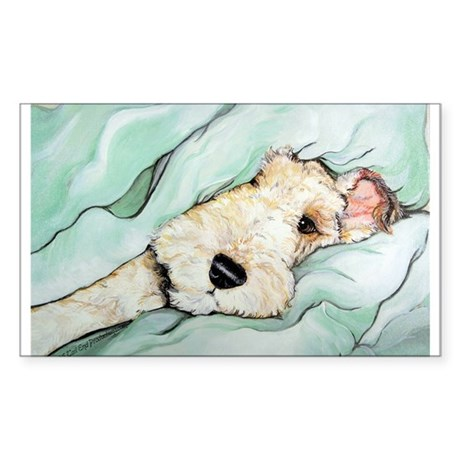 Napping Wire Fox Terrier Sticker (Rectangle)