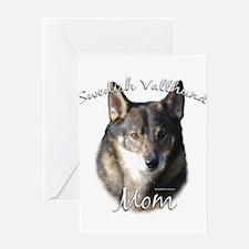 Vallhund Mom2 Greeting Card