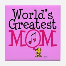 Woodstock - World's Greatest Mom Full Tile Coaster