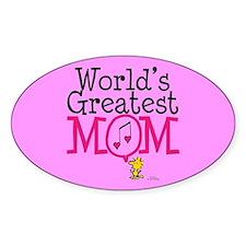 Woodstock - World's Greatest Mom Full Blee Sticker