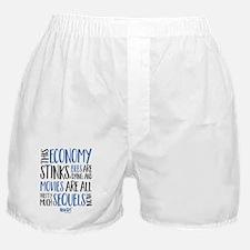 New Girl Economy Stinks Boxer Shorts