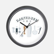 Bartender Mixing Tools Wall Clock