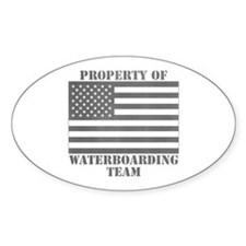 Property of U.S. Waterboarding Team Oval Decal