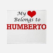 My heart belongs to Humberto Throw Blanket
