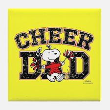 Snoopy - Cheer Dad Full Bleed Tile Coaster