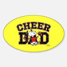 Snoopy - Cheer Dad Full Bleed Decal