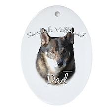 Vallhund Dad2 Oval Ornament