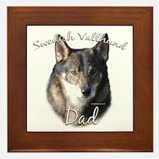 Vallhund Dad2 Framed Tile