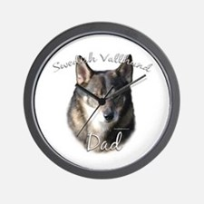 Vallhund Dad2 Wall Clock