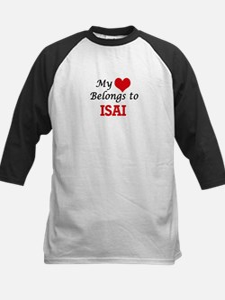My heart belongs to Isai Baseball Jersey
