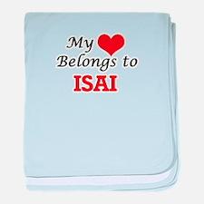 My heart belongs to Isai baby blanket
