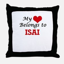 My heart belongs to Isai Throw Pillow