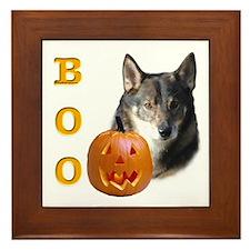 Vallhund Boo Framed Tile