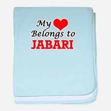 My heart belongs to Jabari baby blanket