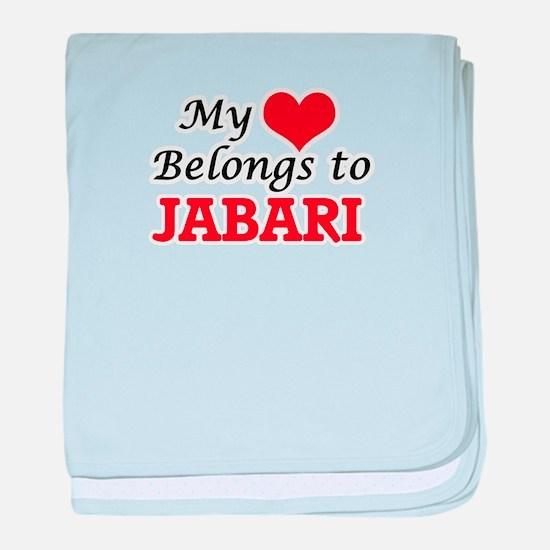 My heart belongs to Jabari baby blanket