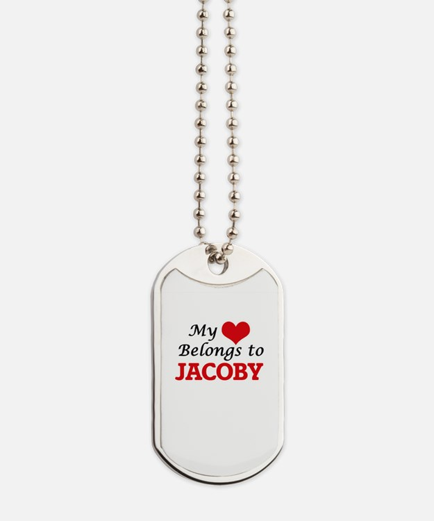 My heart belongs to Jacoby Dog Tags