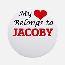 My heart belongs to Jacoby Round Ornament